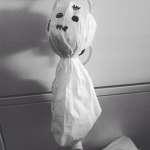 Halloween Dekoration: Gespenst aus Servietten
