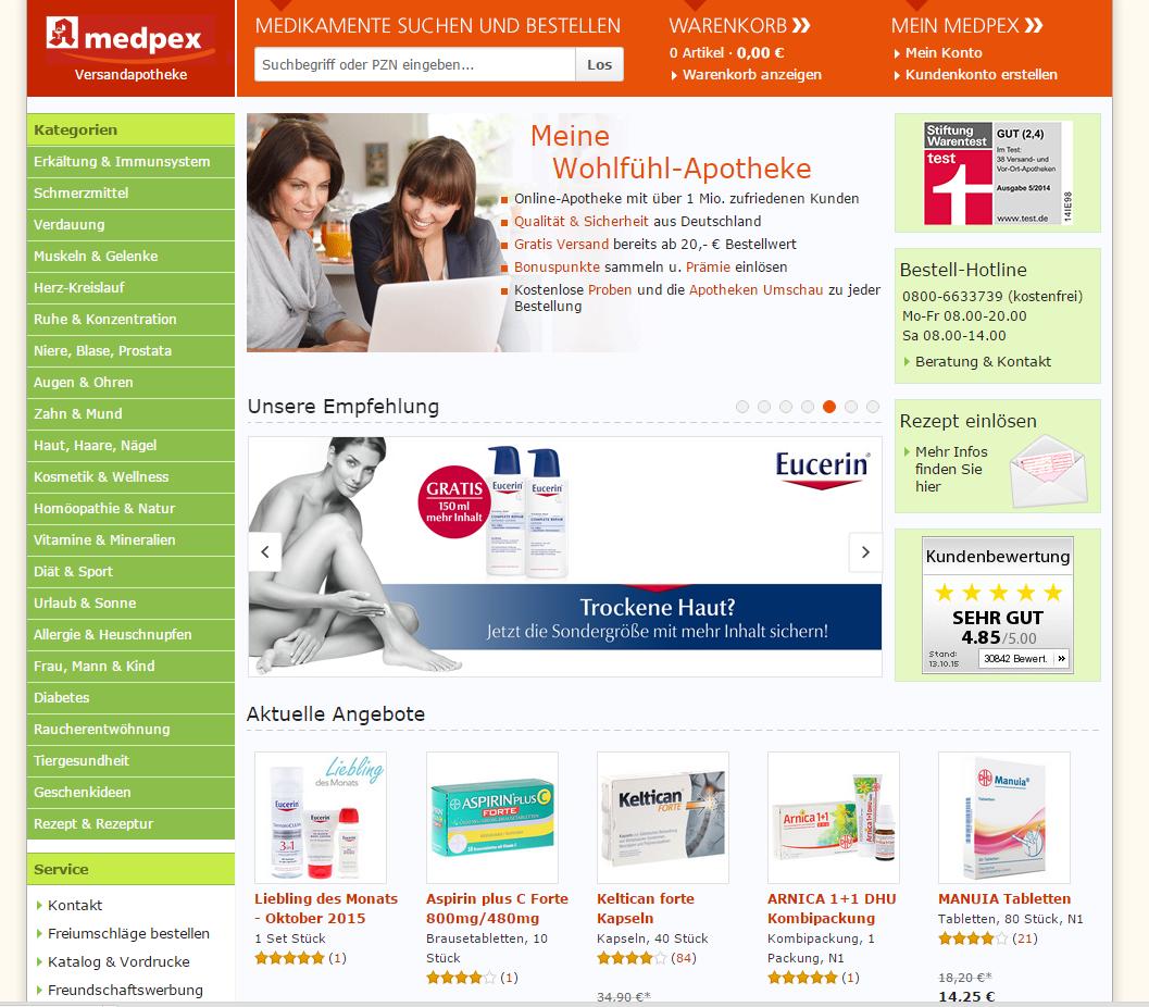 Online Apotheke - medpex.de