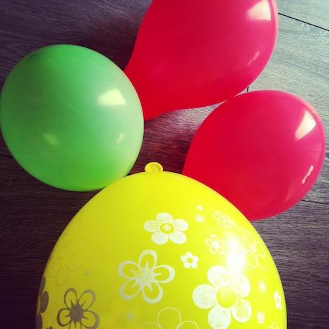 Luftballons für das Hochzeitsspiel Luftballontanz