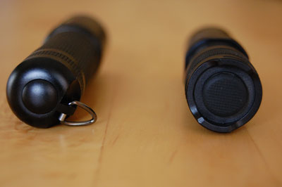 Nahaufnahme der Schalter (M1 links, PD 20 rechts)