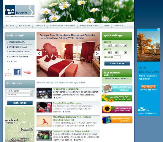 New Life Hotels - Urlaub für werdende Eltern