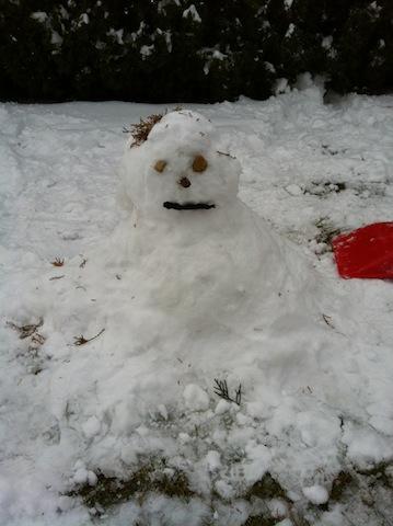 Schneemann im Wint