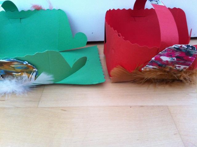 Osterkörbchen mit Kindern für Ostern basteln