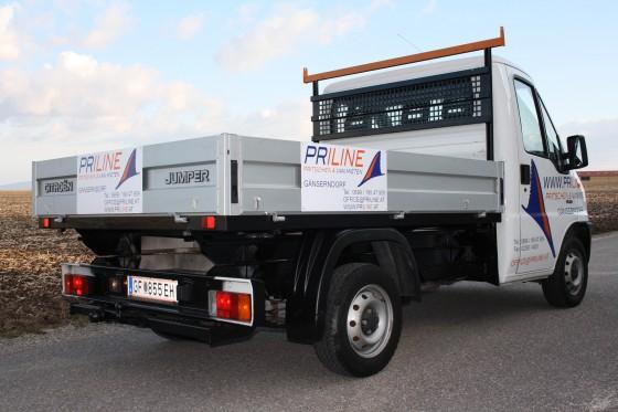 Citroen Jumper der Firma Priline Pritschenverleih Gänserndorf