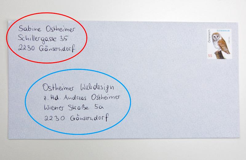 Richtig Adressieren Und Beschriften Für Die österreichische Post