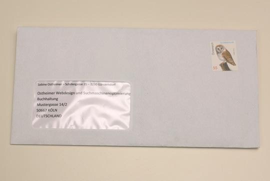 Post Österreich: Fensterkuvert richtig adressieren