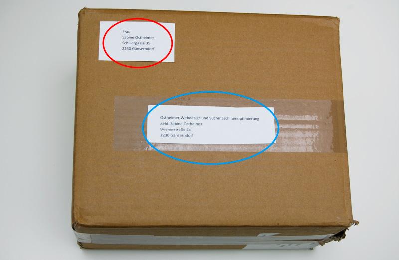 Post Österreich - richtiges adressieren von einem Paket