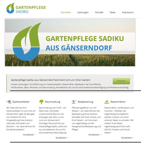 Webseite Gartenpflege Sadiku Gänserndorf