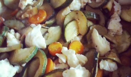 Rezept für Koteletts mit Zucchini-Haloumi