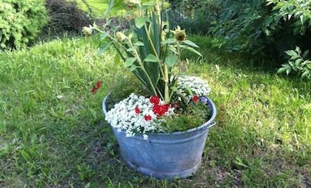 Recycling Ideen im Garten