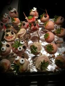 Halloween- Erdbeeren Gesichter
