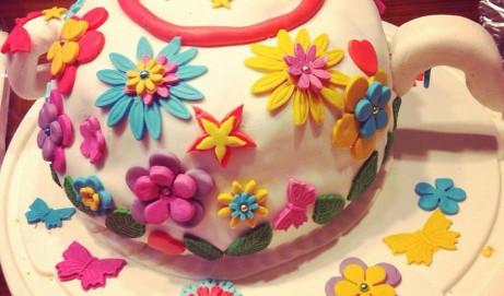 Anleitung für eine Torte als Teekanne mit Fondant