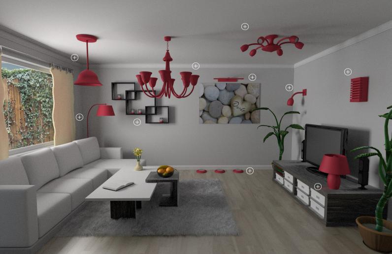 Innenbeleuchtung von einem Wohnzimmer bei lampenwelt.at
