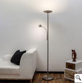 LED-Deckenfluter mit Lesearm: Malea von lampenwelt.at