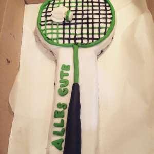 Badminton-Schläger-Torte