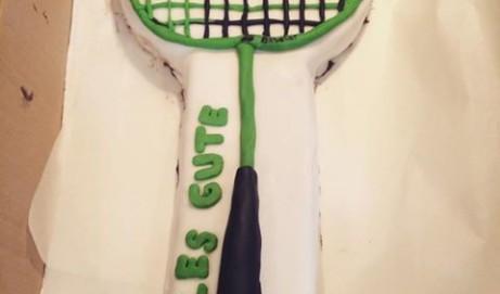 Rezept für eine Badmintonschläger-Torte