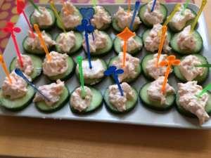 Fingerfood - Gurken-Lachs-Häppchen