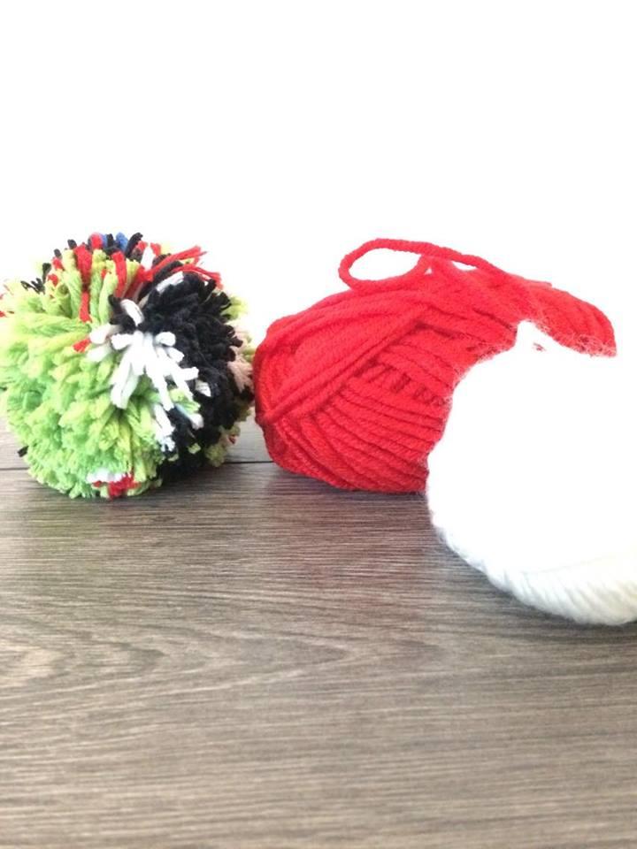 Wollbommel basteln mit Wolle