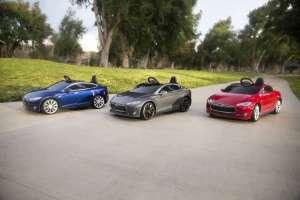 Kinderelektroauto Tesla - Farbauswahl