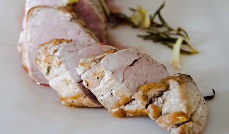 Rezept für einen Schweinslungenbraten in Senf-Schnittlauch-Sauce