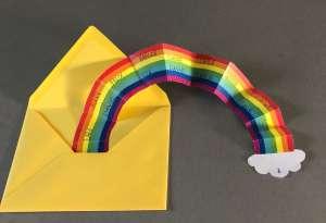 Abschiedsgeschenk LehrerInnen: Regenbogen Karte