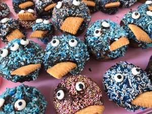 Monster-Muffins - Dekoration für Fasching