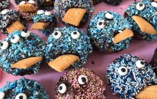 Monster-Muffins - Dekoration für Fasching