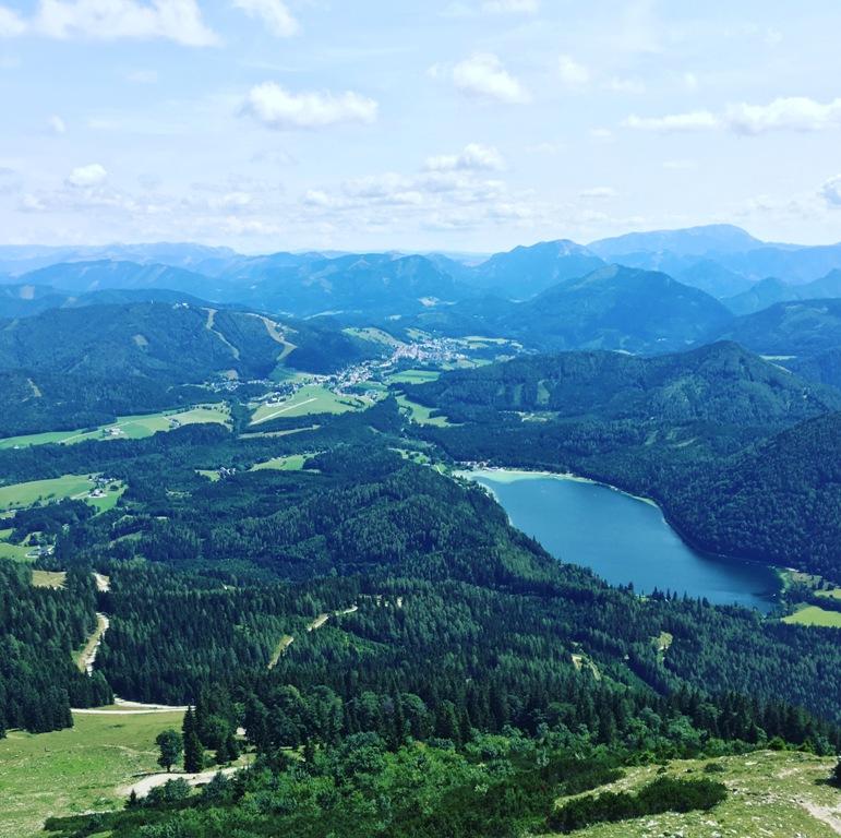 Blick auf den Erlaufsee von der Gemeindealpe Mitterbach