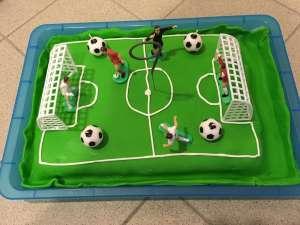 Fußballtorte für Kindergeburtstag