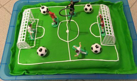 Anleitung für eine Fußballtorte