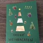 Geldgeschenk Tannenbaumkarte - Verzierte fertige Karte