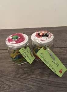 Mitbringsel zu Silvester basteln - Glückssträhne im Glas